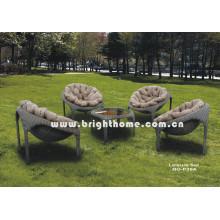 Sofá de mimbre de ratán PE Mobiliario de jardín al aire libre Bg-P39A