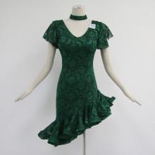 Green latin dance dress