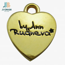 Custom Gold Heart Shape Zinc Alloy Metal Jewelry Pendant for Promotion Gift