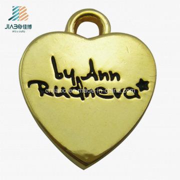 Пользовательские золото в форме сердца цинковый сплав металл Кулон ювелирные изделия для подарка Промотирования