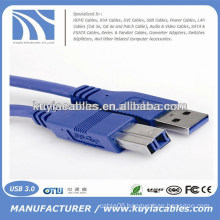 High Quality Blue USB 3.0 Printer Cable 3ft,5ft,6ft,10ft,16ft