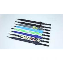 OEM auto simple windproof factory quality promotional  fiberglass stick ribs cheap straight golf umbrella with logo prints
