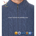 Men's Cabled Cashmere Cardigan with Zipper