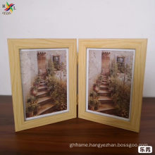 Handmade multi pieces combined wooden color collage folding picture photo frame