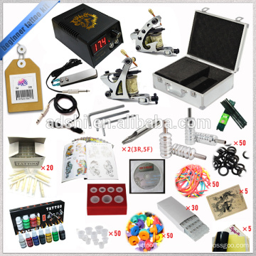 Starter Complete Tattoo Kit 2 Gun Versorgung Set Ausrüstung Ali-Express Tattoo Maschine Body Kits