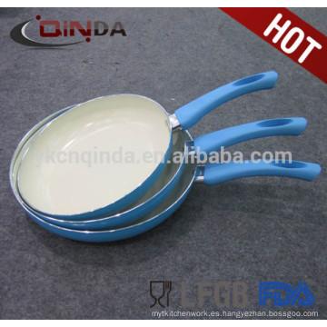 Sartén de cerámica blanca de aluminio