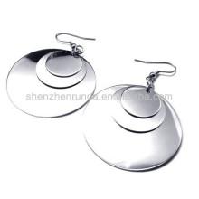 Disque circulaire Acier inoxydable pour femme Pendentif pendentif Pendentifs bijoux