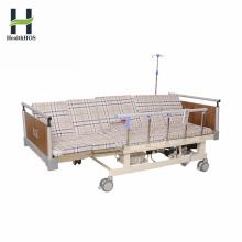 Leito médico elétrico de 5 funções integrado manual médico com vaso sanitário