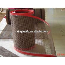 Sèche UV Téflon / PTFE Coated Fiberglass Open Mesh Conveyor Belt / 4 * 4mm