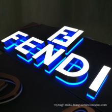 Front Light Backlit Letter 3D Led Illuminate Channel Letter Light signage outdoor shop sign led letter logo