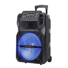 Alto-falante recarregável de carrinho Bluetooth 15''Portable com microfone