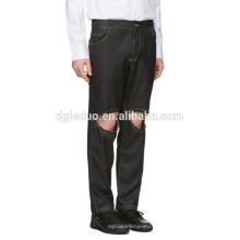 Calças de brim de algodão novo homens moda buraco jeans causal dress for boys