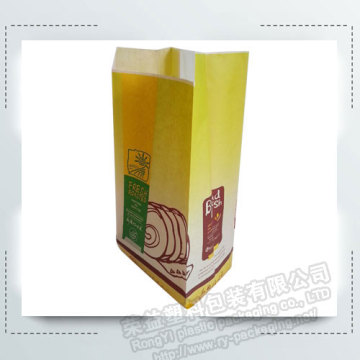 Kraft Bread Food Packing Paper Bags with Clear Window
