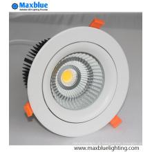 Melhor Preço Recessed Triac Dimmable COB LED Down Downlight Luz