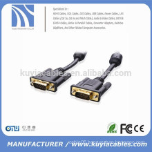 100% Bare Copper Gold Plated SVGA/VGA Monitor Cable with Ferrites 15 Feet