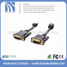 100% Bare cobre banhado a ouro SVGA / VGA monitor cabo com ferrites 15 pés