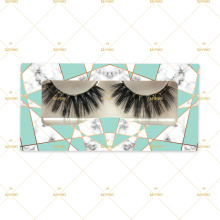 Mint Green Marble Eyelash Box For Naked 3D Silk Fiber Vegan Lashes With Clear Lash Band Customized Plastic Box TLAE