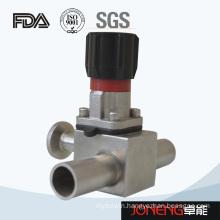 Stainless Steel Three Way Food Grade Diaphragm Valve (JN-DV1012)