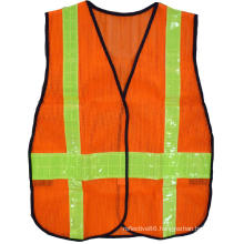 high visibility thickened mesh reflective security vest with PVC tape 4cm & 7cm for children