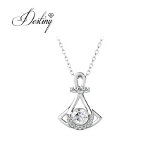New Trendy Valentine Jewelry 18K Gold Plated Quinn Pendant Necklace