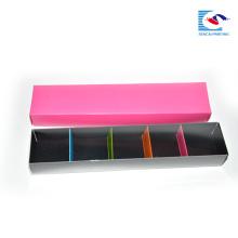 boîtes d'emballage de macaron imprimé par logo personnalisé