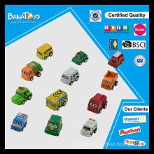 Novo estilo miúdos brinquedos cartoon plástico carro puxar para trás brinquedo