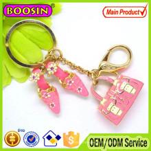 Wholesale Personalized Zinc Alloy Floating Enamel Car Bag Shoe Keychain