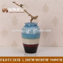Dekorative Zement Hause Dekoration Elemente Beton chinesischen Stil antiken Keramik Blume Vase