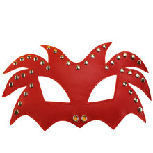 Novelty Red Good Quality Sex Toys in Leather PVC Adult Sex Party Eye Mask Blinder