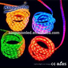 Lumen impermeable 5050 RGB LED tira llevada flexible tira ip68 smd 5050 rgb llevó la tira