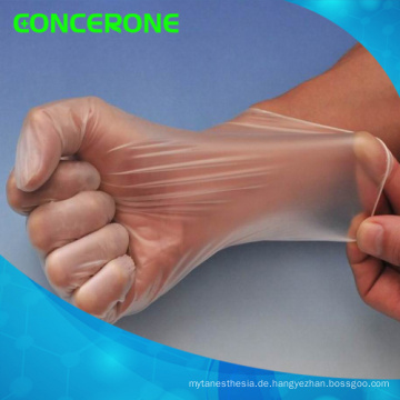 Klare Vinyl Handschuhe für den medizinischen Gebrauch
