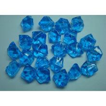Venta al por mayor de piedra de hielo acrílico de color, azul real