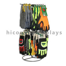 Customized Commercial Counter Top Girando Metal Wire Collapsiable Sport Gloves Display Rack