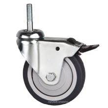 Tige filetée légère 75 mm avec roulette de frein