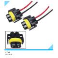 Fósforos fêmeas do fio dos soquetes do adaptador de H11 H8 / cablagens das luzes de névoa
