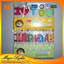 Factory price good quality alphabet birthday candles