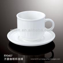 Copo de café cerâmico por atacado, caneca de café, copo de café e pires