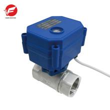 L'eau automatique motorisée arrête la vanne à boisseau sphérique de contrôle de débit
