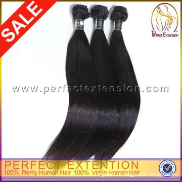 24 polegadas Sew em tecer seda reta extensão do cabelo humano