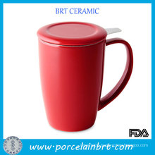 Red Tea Mug with Stainless Steel Infuser