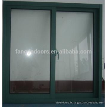 dernière conception swing ouvert double fenêtre en aluminium accroché