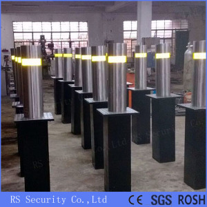 LED Light Security Automatic Retractable Parking Bollards