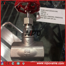 Thread Screwed Stainless Steel Globe Valve