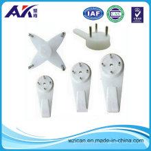 Gancho plástico de Color blanco ABS rígidas con clavo