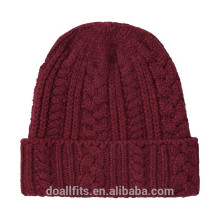 blank with customied logo two-sided beanie cap good quality