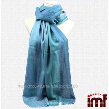 Китайский поставщик тканые смешанные Ombre Aqua шейный платок Wrap