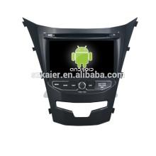 автомобильная навигация Android 4.4.2 автомобиль DVD с GPS,с Bluetooth,зеркало-литой,видео,видеорегистратор,игры,двойной зоны,swc на Корандо 2014