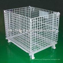 Recipiente revestido da rede de arame do PVC da fabricação quente da venda / gaiola recipiente do fio