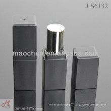 LS6132 square thick wall matte black lipstick tube