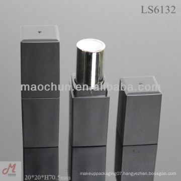 LS6132 square thick wall matte black lipstick tube